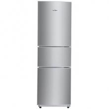 美的(Midea)206升 时尚三门三温冰箱 日耗电0.49度 HIPS环保内胆 闪白银 BCD-206TM(E)